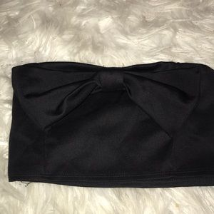 Charlotte Russe Bow Crop Top